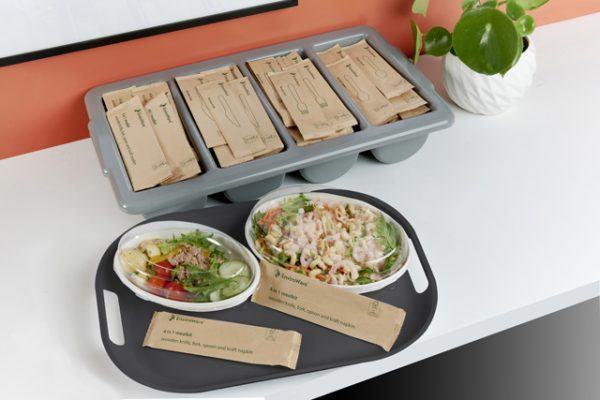 Individually wrapped wooden meal kits