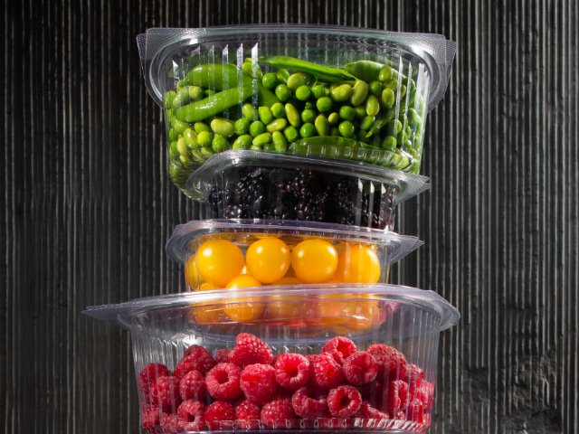 clear plastic rectangular salad containers
