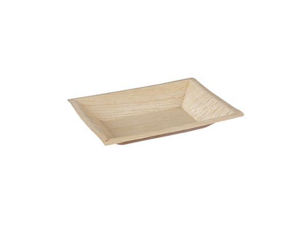 Palm Leaf Rectangular Plate 17x12cm