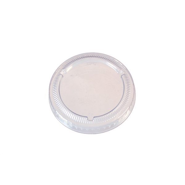 Clear PET Lid for 1oz and 2oz Bagasse Portion Pot