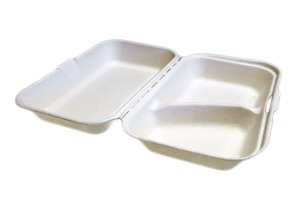 2 compartment takeaway food container or box