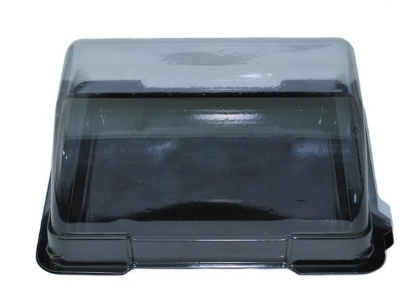 Black Sandwich Boat and Clear Lid