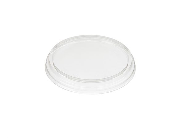 Clear lid for PLA deli containers