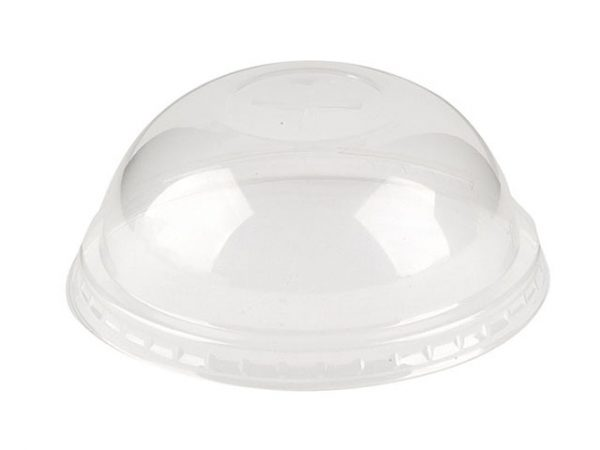 PLA Dome Straw Slot Lid fits 76mm Cups