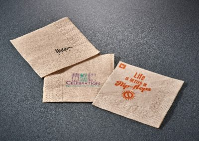 brown tissue napkins