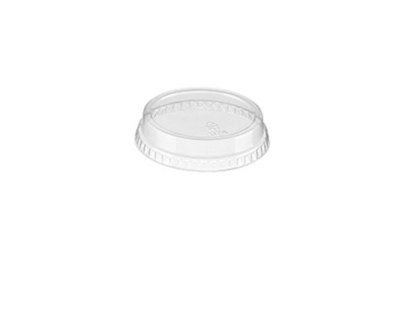 Clear flat lid for 7 and 10 fl oz takeaway plastic cups