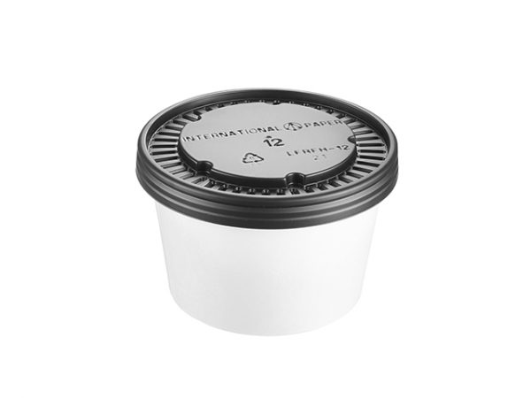 White 12oz Paper Food Container & Lid