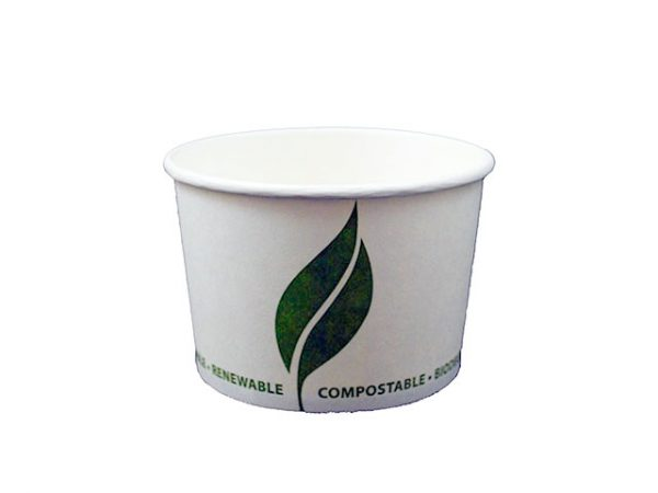 8 oz Compostable Paper Food Container