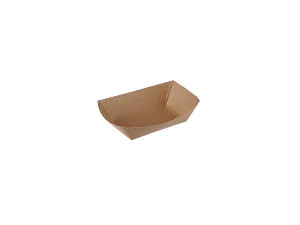 Plain Kraft Brown 1/4lb Paper Food Tray