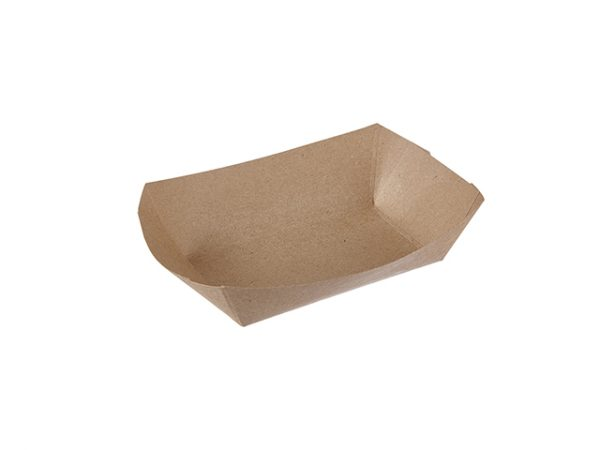 Plain Kraft Brown 2.5lb Paper Food Tray