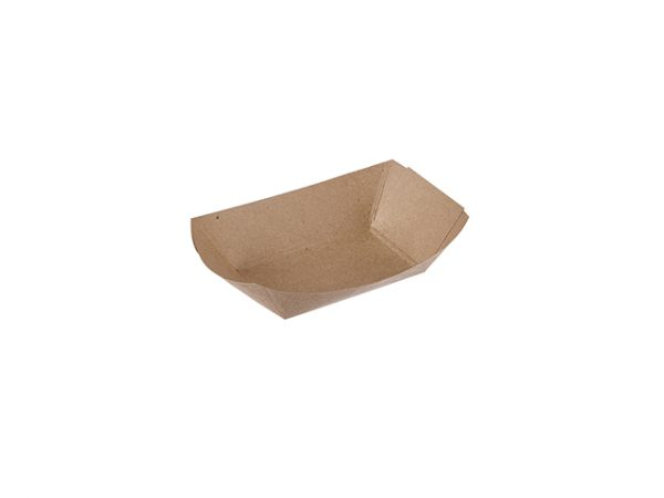 Plain Kraft Brown 1/2lb Paper Food Tray
