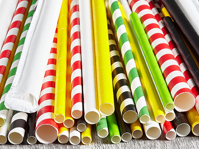 Paper straws different colours