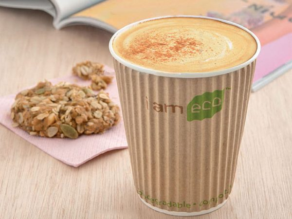 Compostable Ripple Wrap Paper Cups I am Eco