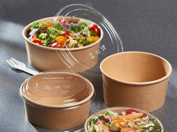 Kraft PLA Lined Salad Containers