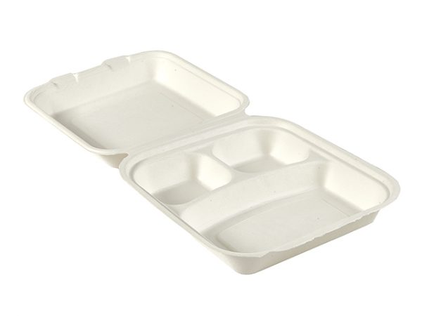 3 compartment take away food box