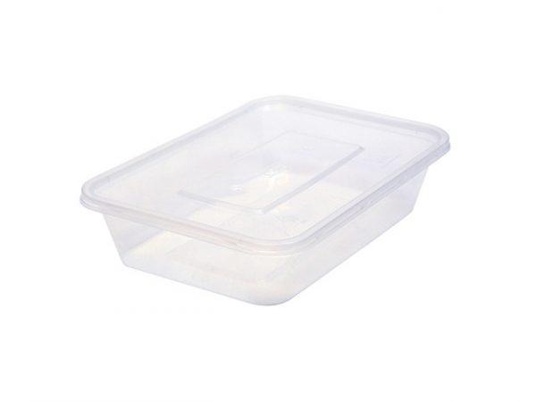 500ml clear plastic container rectangular