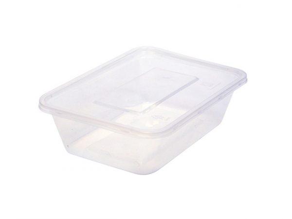 650ml clear plastic container rectangular