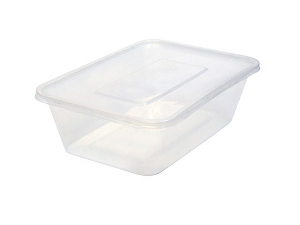 750ml clear plastic container rectangular