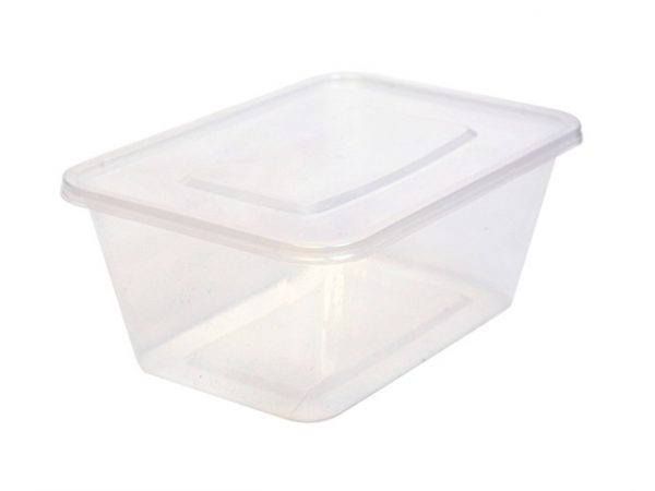 1000ml clear plastic container