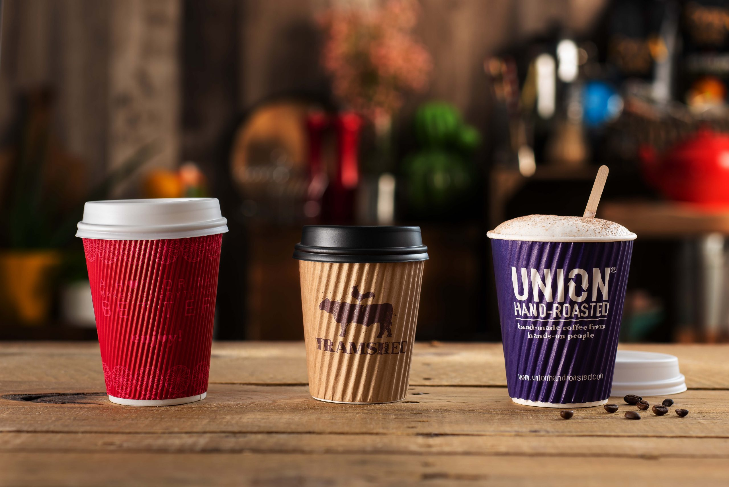 RippleWrap Paper Hot Drink Cups with custom print