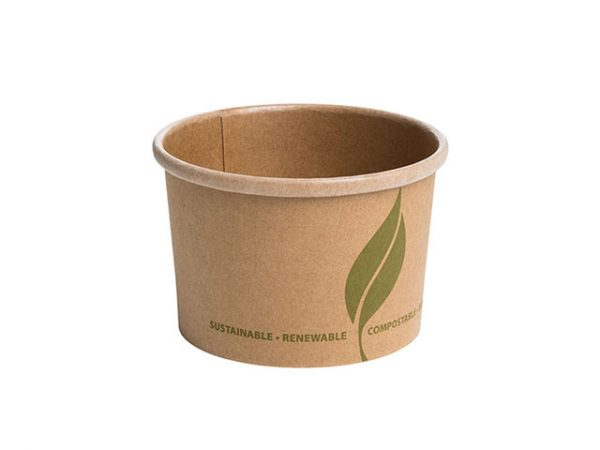 8 oz Kraft Brown Paper Food Container for Soup