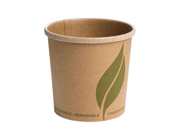 12 oz Kraft Brown Paper Food Container for Soup