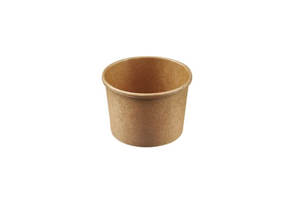 kraft brown 8oz round food container for takeaway soup