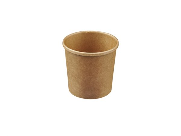 kraft brown 12oz round food container for takeaway soup