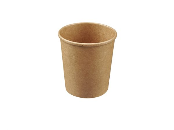 kraft brown 16oz round food container for takeaway food