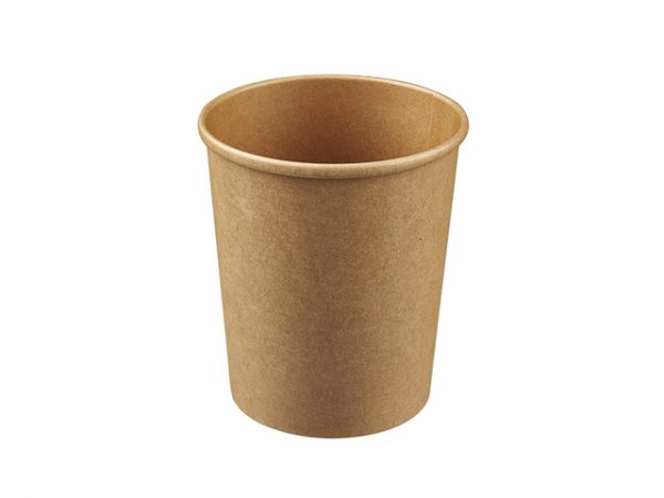 Large kraft brown 32oz round food container for takeaway food