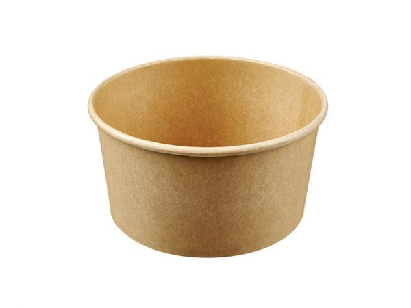 1000ml Kraft Brown Paper Compostable Salad Container