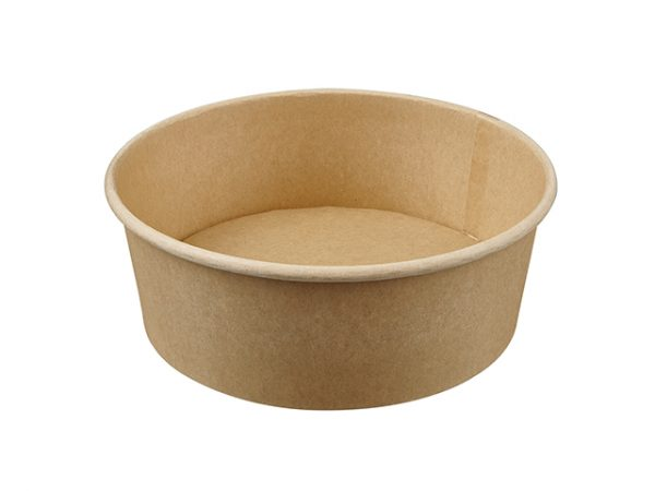 1300ml Kraft Brown Paper Compostable Salad Container