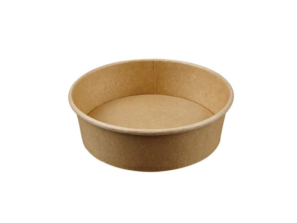 500ml Kraft Brown Paper Compostable Salad Container