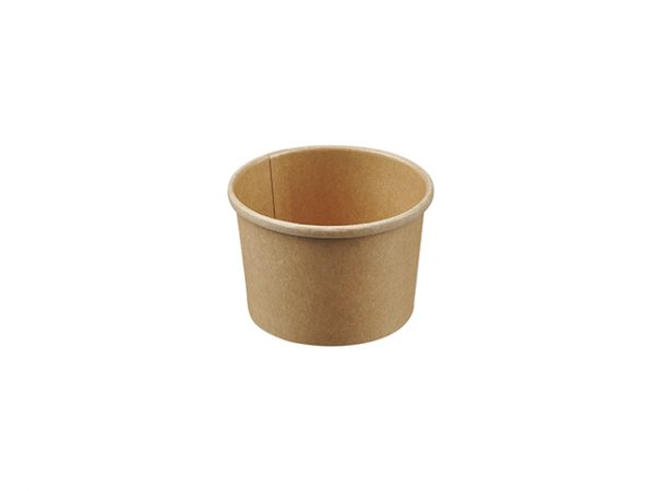 8oz Kraft Soup Container. Brown Compostable Soup Container