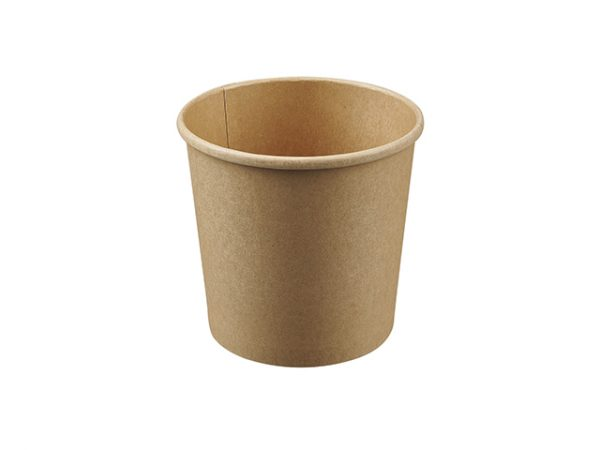 26oz Kraft Brown Compostable Soup Container