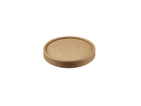 Kraft Brown Paper Lid for 8 & 12 oz Food Container