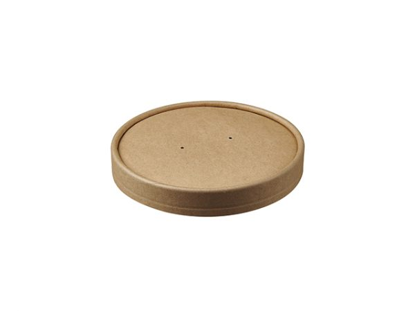 Kraft Brown Paper Lid for 16 oz Food Container