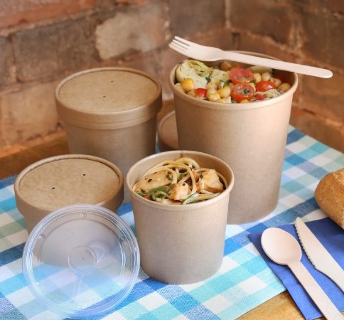 Kraft PLA Lined Soup Containers