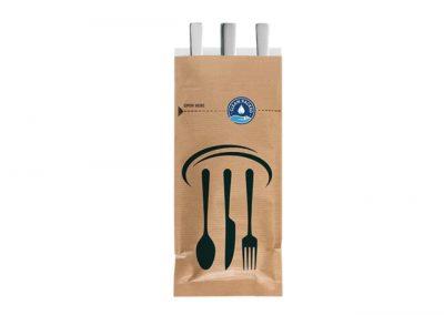 Kraft cutlery bag