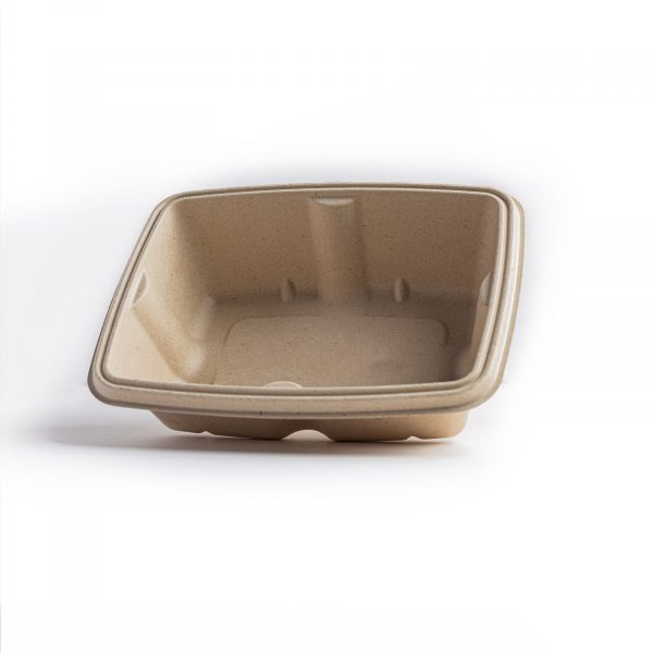leakproof bagasse rectangular container 750ml