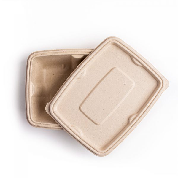 Bagasse Lid for rectangular food containers