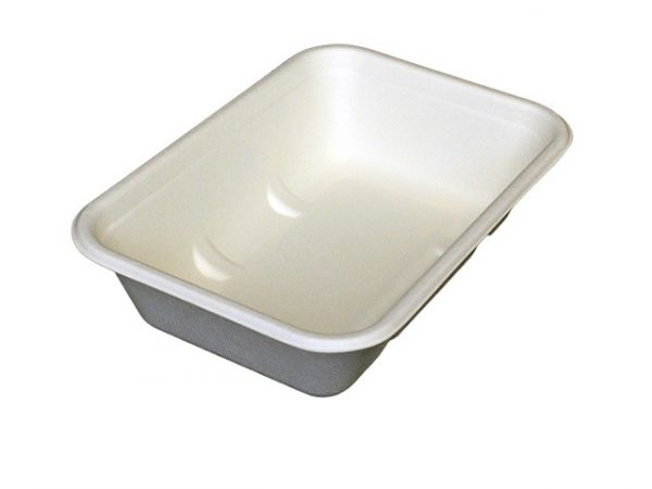 Leakproof Bagasse Tray 550ml