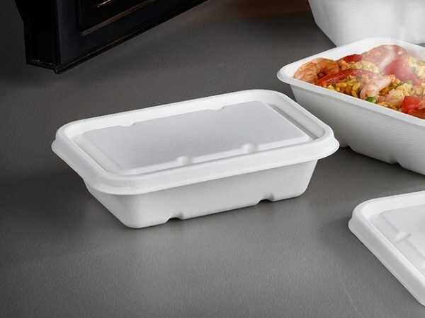 Leakpoof bagasse tray and lid 500ml