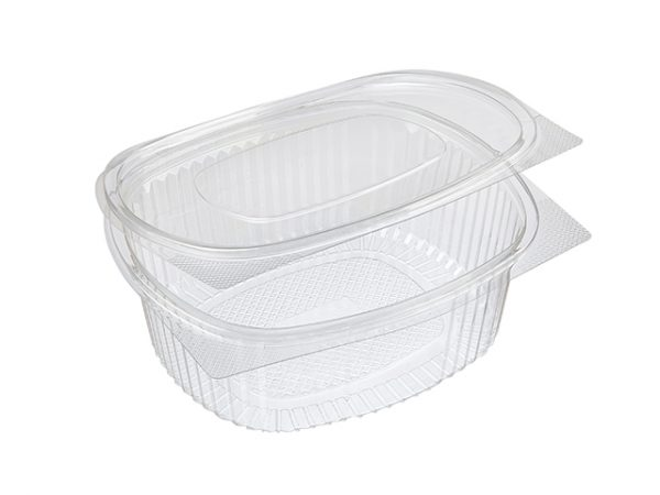 Recycled Plastic Hinged Clamshell Salad Container Large 1500 ml