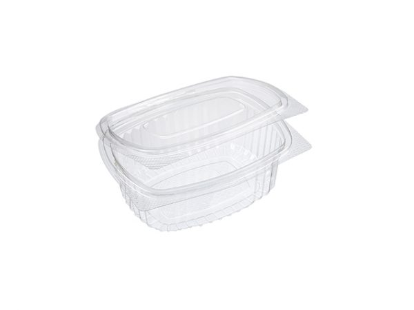 Recycled Plastic Clamshell Clear Takeaway Pasta Container 375ml
