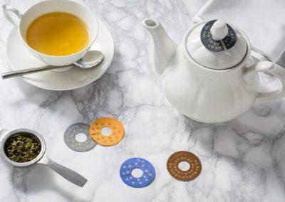 Tea pot tag for loose tea in pot
