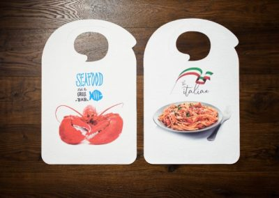Adult disposable bibs with print