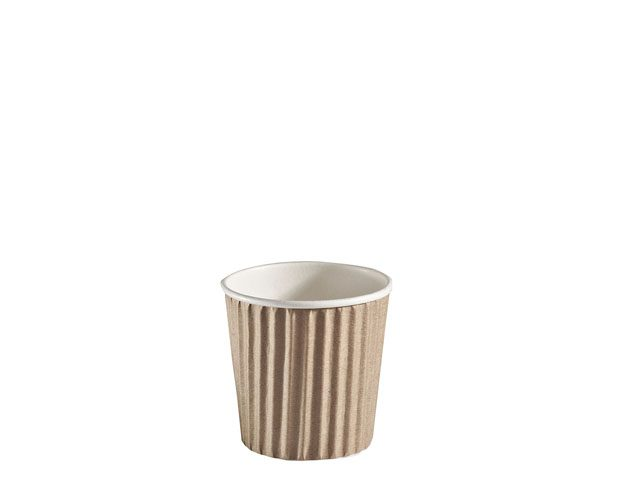 4 oz small paper espresso disposable cup ripple wrap