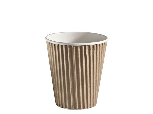 12 oz ripple wrap brown insulated paper cup