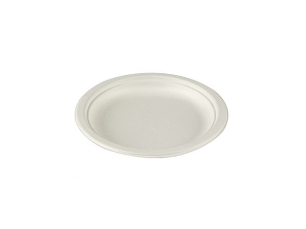 6 inch bagasse compostable plate small plate for cake